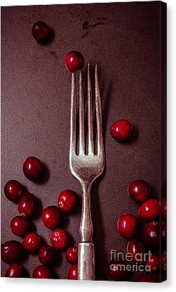 Cranberries And Fork Canvas Print