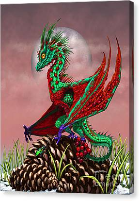 Pine Cones Canvas Print - Cranberry Dragon by Stanley Morrison