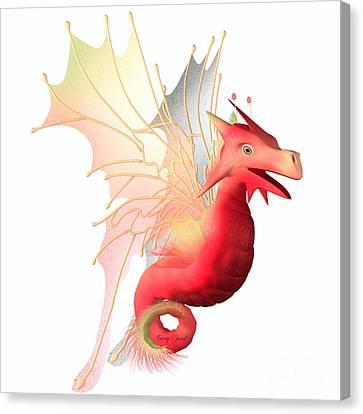 Cranberry Faerie Dragon Canvas Print