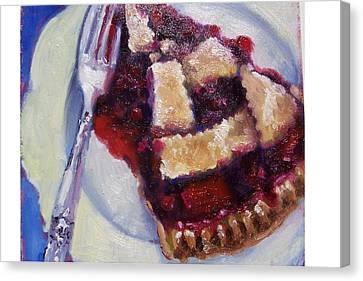 Cranberry Raisen Pie         Canvas Print by Susan Jenkins