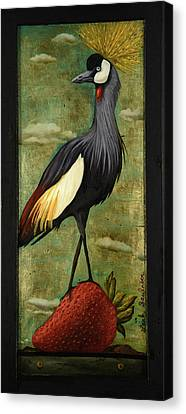 Canvas Print - Crane Om A Strawberry by Leah Saulnier The Painting Maniac