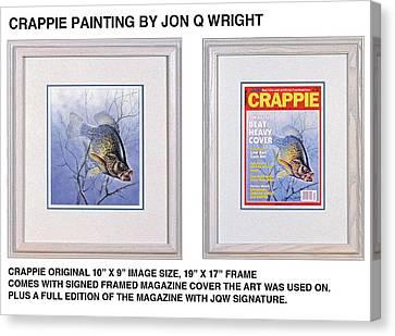 Magazine Art Canvas Print - Crappie Magazine And Original by JQ Licensing
