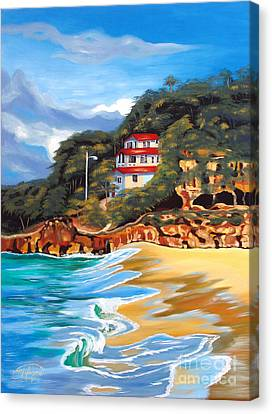 Crash Boat Beach Canvas Print by Milagros Palmieri
