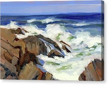 Crashing Surf Canvas Print by Mary Byrom