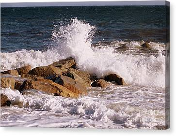 Crashing Surf On Plum Island Canvas Print