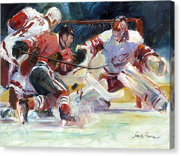Crashing The Net Canvas Print by Gordon France