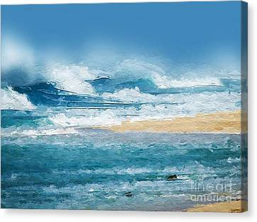 Crashing Waves Canvas Print by Anthony Fishburne