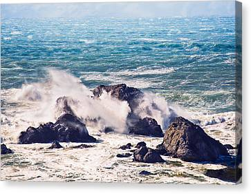 Canvas Print featuring the photograph Crashing Waves by Kim Wilson