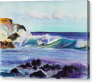 Crashing Waves Canvas Print by Marionette Taboniar