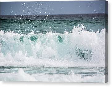 Crashing Waves Canvas Print by Shelby  Young