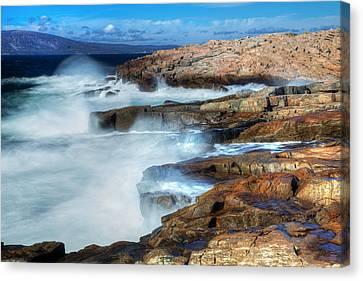Crashing Waves Canvas Print by Tom Weisbrook