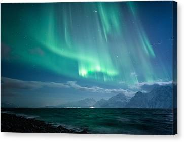 Winter Landscapes Canvas Print - Crashing Waves by Tor-Ivar Naess