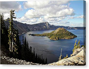 Wizard Island Canvas Print - Crater Lake - Intense Blue Waters And Spectacular Views by Christine Till