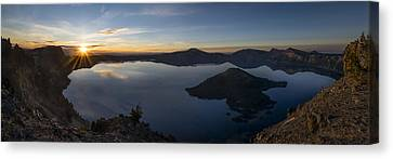 Crater Lake At Sunrise Canvas Print