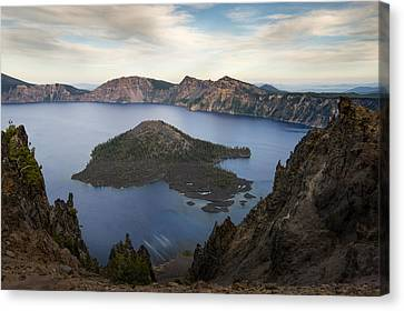 Crater Lake At Sunset Canvas Print