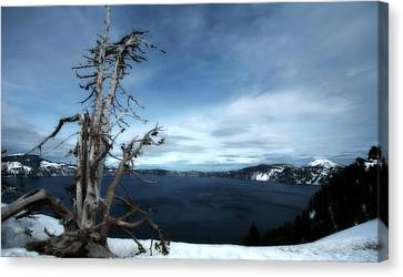 Crater Lake Canvas Print by Bonnie Bruno