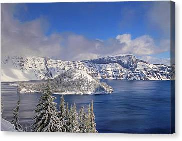 Wizard Island Canvas Print - Crater Lake by Donna Kennedy