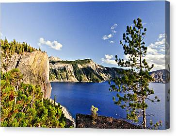 Crater Lake II Canvas Print by Albert Seger