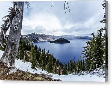 Crater Lake In Spring Canvas Print by Michael Parks