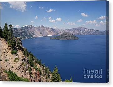 Crater Lake Klamath County Oregon Dsc5198 Canvas Print