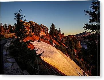 Wizard Island Canvas Print - Crater Lake Lodge Sunrise by Scott McGuire