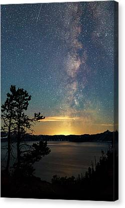 Crater Lake National Park Canvas Print - Crater Lake Milky Way by Cat Connor