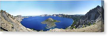 Crater Lake Panoramic Canvas Print