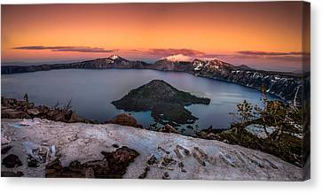 Wizard Island Canvas Print - Crater Lake Summer Sunset by Scott McGuire