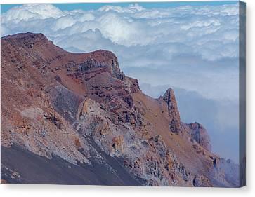 Crater Wall Of The Haleakala Volcano Canvas Print by Joe Benning
