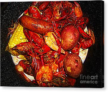 Canvas Print - Craw Fish Steam Pot by Paulette Thomas