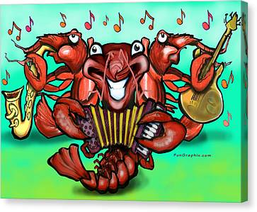 Crawfish Band Canvas Print by Kevin Middleton