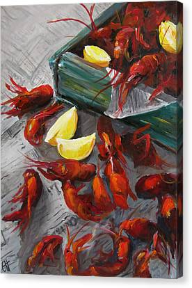 Boiled Canvas Print - Crawfish Boil by Cari Humphry