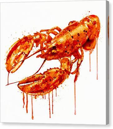 Crayfish Watercolor Painting Canvas Print