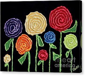 Crayola Blooms Canvas Print by Stewalynn Art