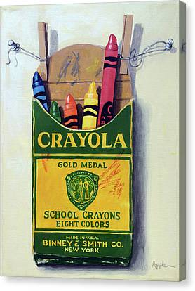 Crayola Crayons Painting Canvas Print by Linda Apple