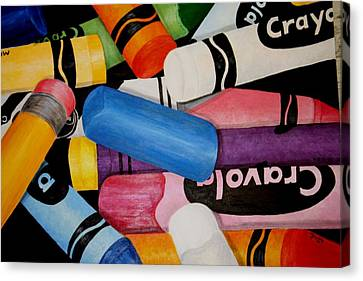 Crayons Canvas Print by Melissa Wiater Chaney