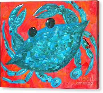 Crazy Blue Crab Canvas Print