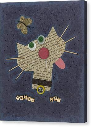 Crazy Cat Canvas Print by Carol Neal