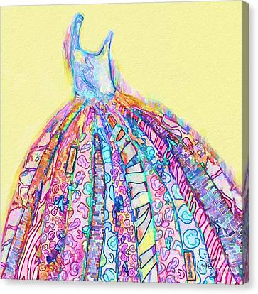 Crazy Color Dress Canvas Print by Andrea Auletta