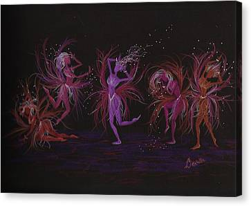 Canvas Print featuring the drawing Crazy Day At Work Dance by Dawn Fairies