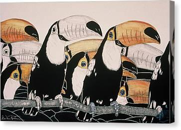 Crazy For Toucans Canvas Print