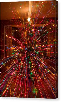 Crazy Fun Christmas Tree Lights Abstract Print Canvas Print by James BO  Insogna