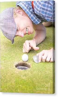 Crazy Golfer Canvas Print by Jorgo Photography - Wall Art Gallery