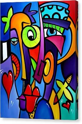Picasso Canvas Print - Crazy Hearts by Tom Fedro - Fidostudio