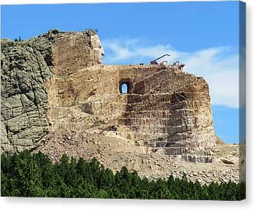 Crazy Horse Canvas Print - Crazy Horse Monument by Dawn Key