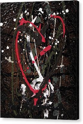 Crazy Love Canvas Print by Jill English