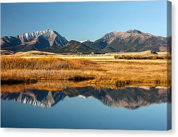 Crazy Mountain Reflections Canvas Print by Todd Klassy