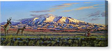 Crazy Mountains-morning Canvas Print by Paul Krapf