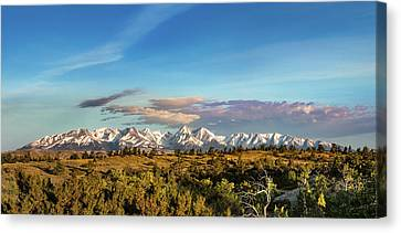 Crazy Mountains Canvas Print by Todd Klassy