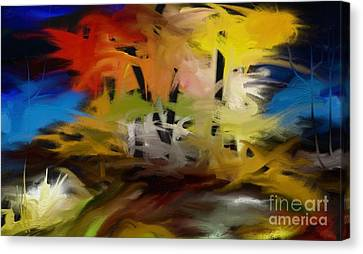 Canvas Print featuring the painting Crazy Nature by Rushan Ruzaick